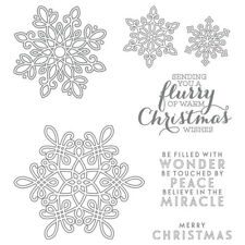 Stampin'Up! Bundle - FLURRY OF WISHES / with matching FLURRY PUNCH - Cling NIP