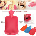 1750ml Rubber Hot Water Bottle Bag Hand Warmers Winter Warm Home Office