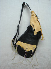 AMERIBAG (Medium) - Customized Design - Black Leather Shoulder Bag Handbag Purse