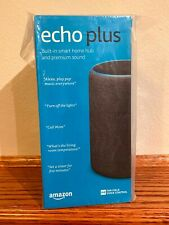 Amazon Echo Plus - 2nd Gen - Charcoal - Brand New Sealed - Fast Free Shipping!