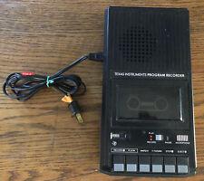Vintage Texas Instruments Program Recorder PHP2700 Black Cassette Tape Player