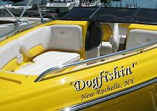 Custom Speed Boat Name & Port of Call  Vinyl Lettering + 1 Color Shadow  Decal