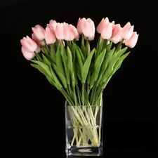 H2D7 10pcs Tulip Flower Latex for Wedding Bouquet Decor (pink tulip) SH V6Y8 P5W