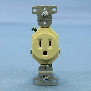 Hubbell Ivory Residential Single Outlet Receptacle NEMA 5-15R 15A 125V RR151I