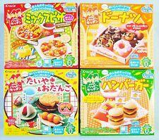 Kracie 4 PCS Set Happy Kitchen Popin Cookin Japanese Candy Gift Hamburger Pizza