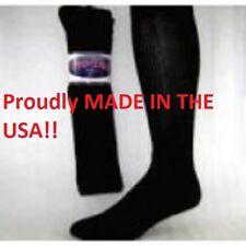 12 Pair PRO-TREK Brand Black Over The Calf Crew Socks Size 13-15 Boot Socks