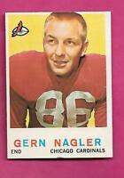 1959 TOPPS # 93 CHICAGO CARDINALS GERN NAGLER  EX-MT  CARD (INV# C0418)