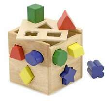 NEW Melissa and Doug Wooden Shape Sorting Cube, preschool toddler 2+