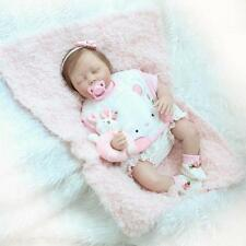 "22""soft Body Silicone Reborn Baby Sleeping Doll Soft Vinyl Lifelike Newborn girl"