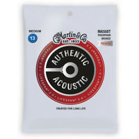 Martin Authentic Lifespan 2.0 Phosphor Bronze Acoustic Guitar Strings Med MA550T