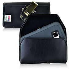 Turtleback Galaxy S7 Leather Black Holster Case Metal Clip Fits Otterbox