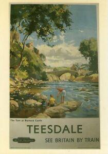 Teesdale Barnard Castle (postcard) British Rail BRP51