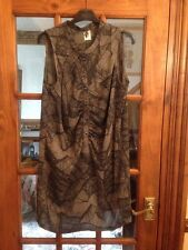 ICHI Women's Black & Brown Tunic Dress Size M