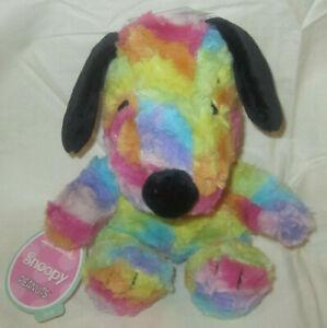 Hallmark Peanuts Snoopy Multi Color Tie Dye Rainbow Plush Stuffed Animal Toy NEW