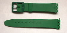 Swatch Watch Replacement Band - Green-For Men's-17 mm-New-With Pins