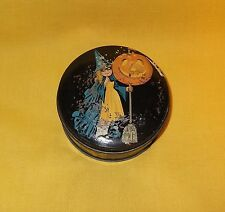 ANTIQUE TINDECO HALLOWEEN CANDY TIN WITCH