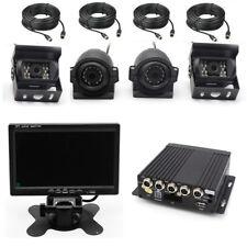 "Truck DVR Video Recorder Kit 7"" Car Monitor Display 4 Night Vision Backup Camera"