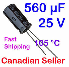 560uF 25V 10x20mm 105°C Nichicon PW For PC TV AUDIO LCD VIDEO TFT ACL DVD