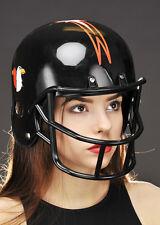 Adult Plastic Black American Football Helmet