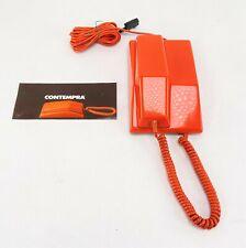 Vintage Telefon Wählscheibe mit OVP 60er/70er Contempra No.995 Telephone orange