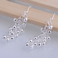 925 Sterling Silver Plated Fashion Jewelry Shiny Women's Grape Earrings Eardrop