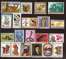RWANDA Timbres neufs : serpents,portraits,fleurs,divers 82m 246t6
