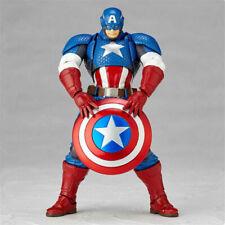 Kaiyodo Revoltech Amazing Yamaguchi Captain America Action Figure Toy with Box