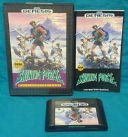 Shining Force RPG CIB Sega Genesis Working Box, Cover Art, Manual, Game Tested