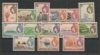 Tristan Da Cunha 1954 QEII Set Mint Hinged