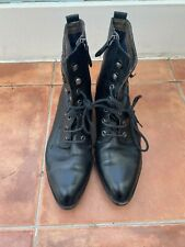 Marco Polo black leather boots size 39/UK 6
