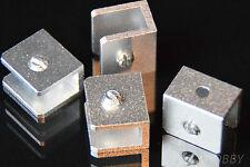 4 Mini Winkel Halter Plattenhalter Alu Modellbau Heimwerker 18x20 mm Halterung