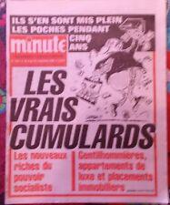 """""""MINUTE"""" numéro 1231 Du 9 au 15 novembre 1985  Mont Valérien,  Krazucki, Duffaut"""
