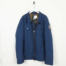 Vintage NAPAPIJRI Sleeve Logo Quilted Jacket Coat Blue | 2XL