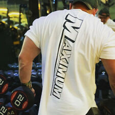 New Men Sports T-shirt Loose Large Size Slim Clothing Base Shirt  Crew Round