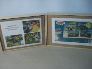 Thomas The Train & Dora The Explorer  Wood Puzzles w/ Box