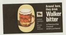 Walker Bitter Vintage Matchbox Label   QH.1542