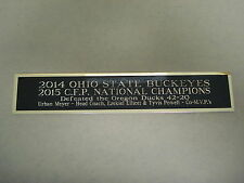 Ohio State Buckeyes CFP Champs Nameplate For A Football Helmet Case 1.5 X 6