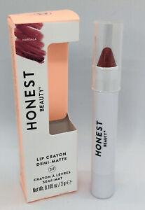 Honest Beauty Lip Crayon Demi-Matte in Marsala Dark Pink Full Size 3g