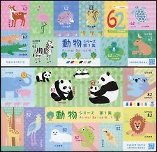 Japan 2018 Tiere Nr. 1 Panda Robbe Löwe Zebra Reh Vögel Igel Postfrisch MNH
