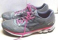 Mizuno Wave Rider 20 Gray Pink Synthetic Athletic Sneakers Men's Shoes 11.5 M 43