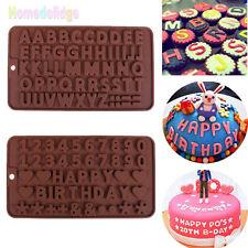 Silicone Alphabet Letter Number Cake Fondant Decorating Chocolate Diy Mold Tools