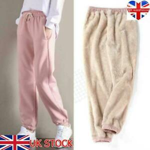 Women's Warm Winter Thick Trousers Fleece Lined Stretchy Thermal Leggings Pants