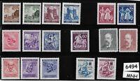 #6494   MNH Regular Multiple stamp sets  /  B a M WWII Occupation / Third Reich
