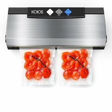 Koios Vacuum Sealer Machine 80Kpa Automatic Food Sealer with Cutter for Food .