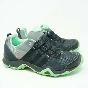 Adidas Womens Green Black Outdoor AX2 Hiking Trail Running Shoes Size 7 2E