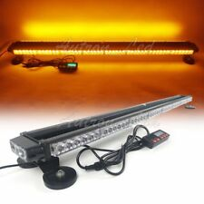 "49"" 102W LED Traffic Adviser Warn Emergency Beacon Signal Strobe Light Bar Amber"
