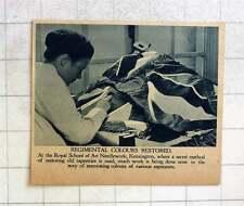 1919 Royal School Of Art Needlework Kensington Secret Method Restoration Tapestr