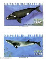 Chile 2002 #2123-24 Cetaceos de Chile en CITES MNH