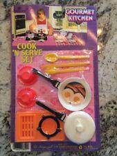 Vintage 1987 Imperial Gourmet Kitchen Toy Set Cook N Serve Play Set Kids NIP