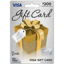 $200 Visa Card, Ready to use. No fees. Free 2-3 day Fast Delivery!
